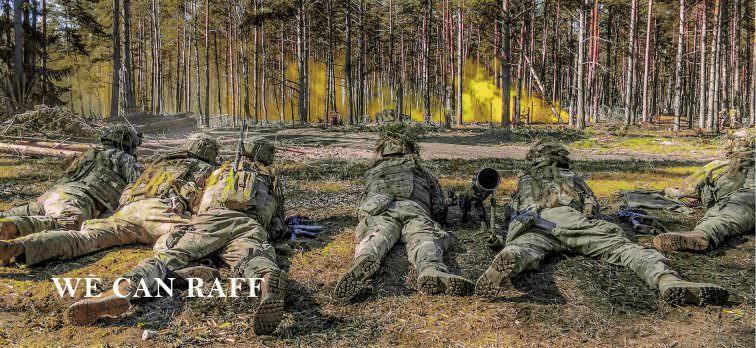raff military textile